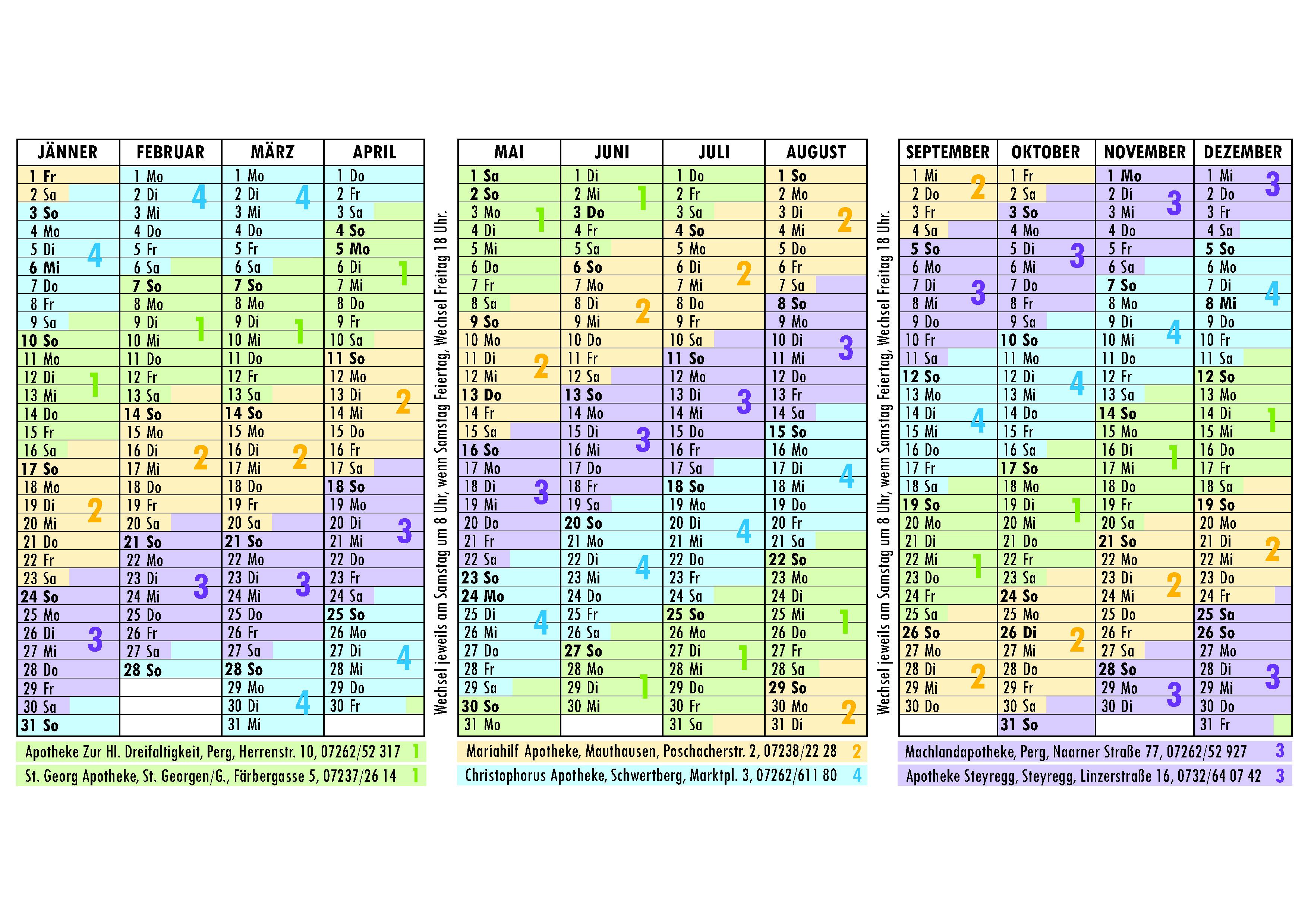 dienstkalender