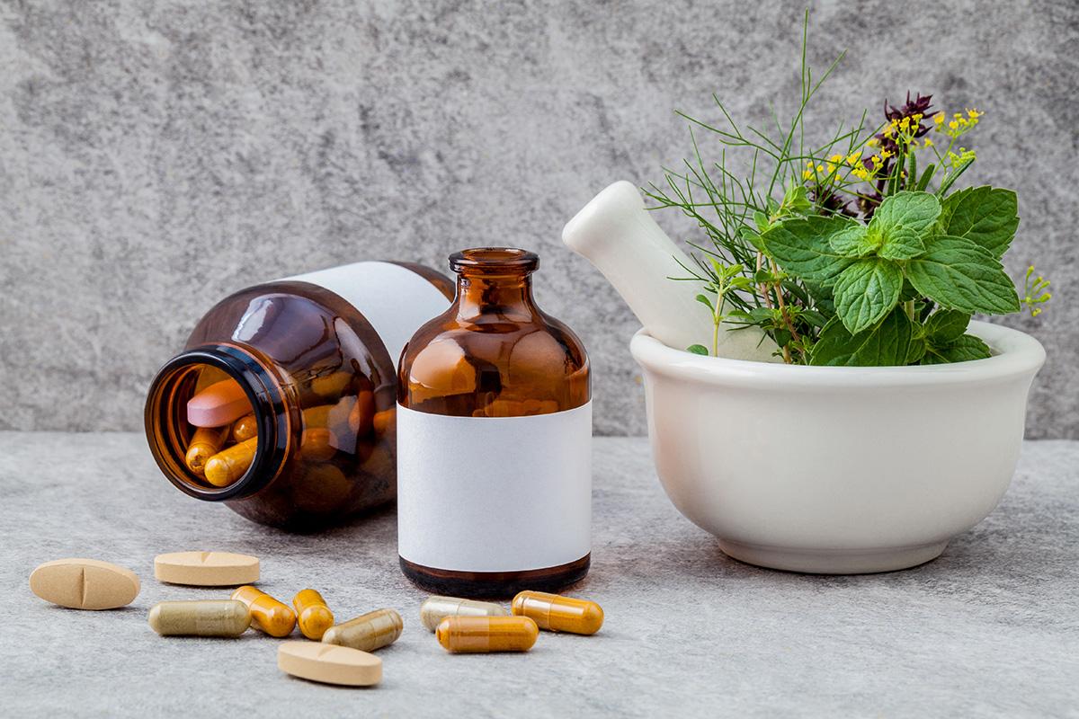 Alternative health care fresh herbs  rosemary ,lemon thyme ,fenn